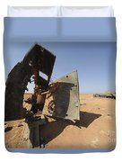 A Tracked Artillery Vehicle Destroyed Duvet Cover