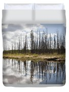 A Tranquil River With A Reflection Duvet Cover by Susan Dykstra