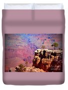 A Tree And The Canyon Duvet Cover