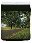 A Tree-lined Rural Virginia Road Duvet Cover