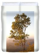 A Tree Outlined By The Rays Of The Setting Sun At Pachmarhi Duvet Cover