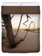 A Twilight View Of Drift Wood Duvet Cover