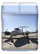 A  Uc-12f King Air Aircraft Duvet Cover