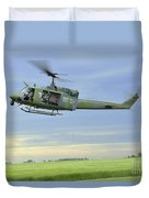 A Uh-1n Huey Helicopter Prepares Duvet Cover