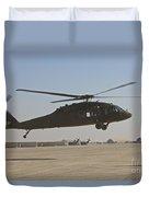 A Uh-60 Black Hawk Landing Duvet Cover