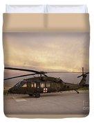 A Uh-60l Black Hawk Medevac Helicopter Duvet Cover