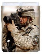 A U.s. Air Force Combat Cameraman Duvet Cover by Stocktrek Images