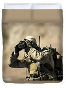 A U.s. Air Force Combat Controller Uses Duvet Cover by Stocktrek Images