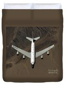 A U.s. Air Force Rc-135 Rivet Joint Duvet Cover