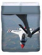 A U.s. Air Force Thunderbird Pilot Duvet Cover