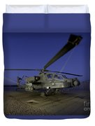 A U.s. Army Ah-64d Apache Helicopter Duvet Cover
