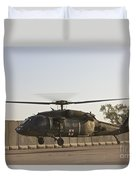 A U.s. Army Medevac Uh-60 Black Hawk Duvet Cover