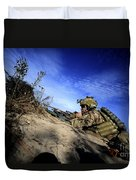 A U.s. Army Soldier Provides Supporting Duvet Cover