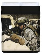 A U.s. Army Soldier Pulls Security Duvet Cover