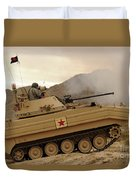 A U.s. Army Soldier Trains On An M113 Duvet Cover