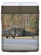 A U.s. Army Uh-60l Blackhawk Duvet Cover