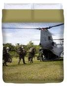 A U.s. Marine Corps Ch-46e Sea Knight Duvet Cover