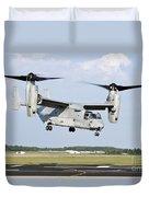 A U.s. Marine Corps Mv-22 Osprey Lifts Duvet Cover