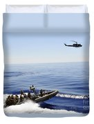 A U.s. Navy Uh-1n Huey Helicopter Duvet Cover