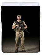 A U.s. Police Officer Contractor Duvet Cover