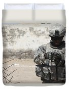 A U.s. Soldier Tests A Tactical Duvet Cover