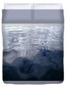 A Very Calm Ocean Reflects Grey-blue Duvet Cover