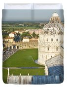 A View From The Bell Tower Of Pisa  Duvet Cover