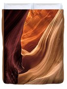 A View In A Slot Canyon Duvet Cover