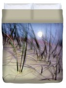 A View Of A Full Moon Rising Duvet Cover