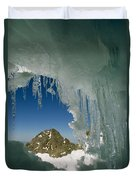 A View Of A Mountain Summit Duvet Cover