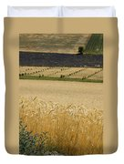 A View Of A Summer Field Of Wheat Duvet Cover