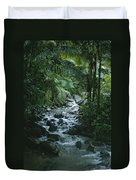 A View Of A Tropical Stream In El Duvet Cover