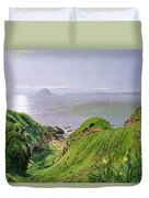 A View Of Ailsa Craig And The Isle Of Arran Duvet Cover