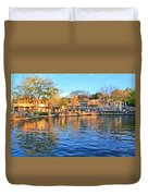 A View Of Disneyland From Tom Sawyer Island  Duvet Cover