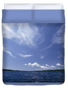 A View Of Lake Superior And Sky At Isle Duvet Cover