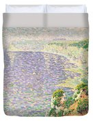 A View Of The Cliffs Of Etretat Duvet Cover by Claude Emile Schuffenecker