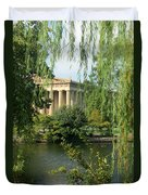 A View Of The Parthenon 1 Duvet Cover by Douglas Barnett