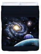 A View To A Nearby Galaxy From A Gas Duvet Cover