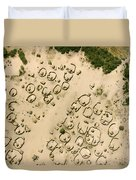 A Village On The Shores Of Lake Chad Duvet Cover