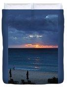 A Walk At Sunset Duvet Cover