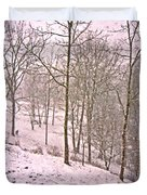 A Walk In The Snow Duvet Cover