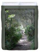 a walk about fairy wood - Mediterranean autumn forest Duvet Cover
