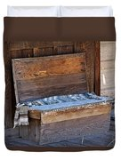 A Weathered Bench Duvet Cover