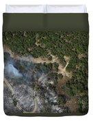 A Wildfire Burns Land Near Austin Duvet Cover