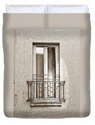 A Window In Paris Duvet Cover