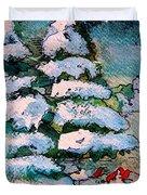 A Winter Feast Duvet Cover