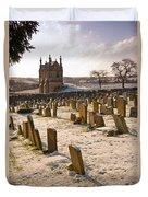 A Winter Graveyard Duvet Cover