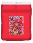A Winter Healing Garden Duvet Cover