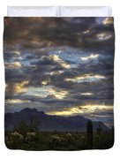 A Winter Sunrise In The Desert  Duvet Cover