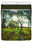 A Winter's Walk Duvet Cover